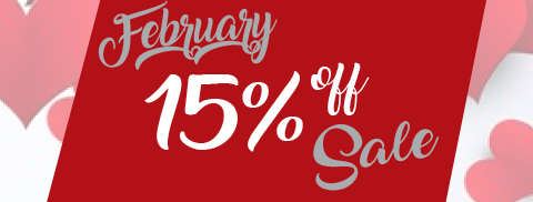 15% OFF all orders.